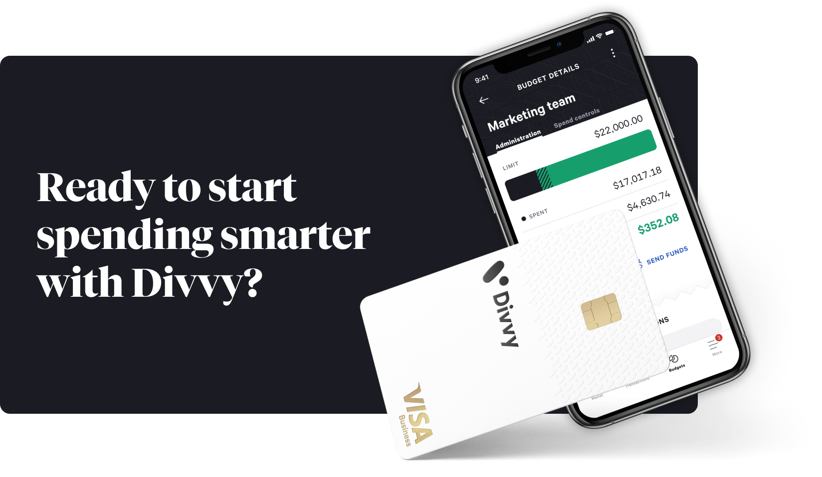 ready to start spending smarter with divvy?