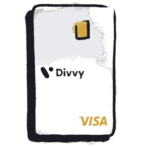 illustrated divvy card