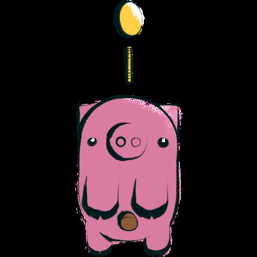 illustrated piggy bank