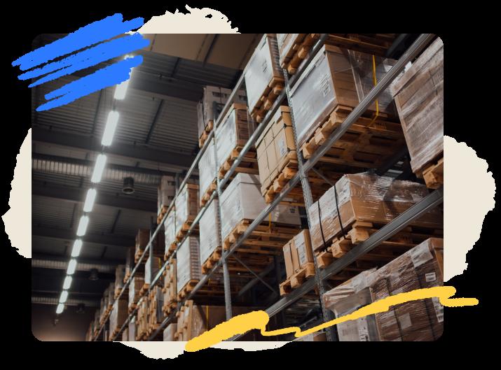stylized photo of a retail warehouse